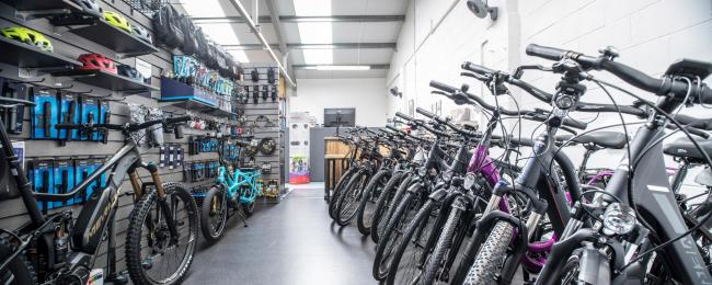 Electric bike shop charges in to Bramley
