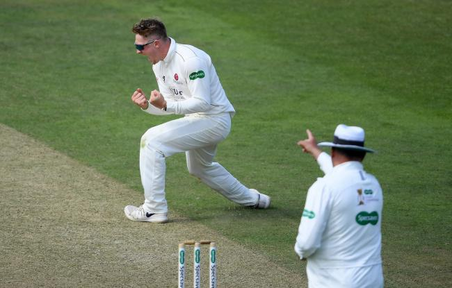 Dom Bess took the last wicket as Somerset won by 313 runs ( Pic: Alex Davidson/SCCC)