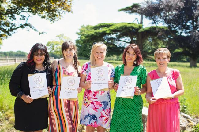 Jewellery Store winner - Sofia of Sofia's Sweet SImplicity, Best Florist - Stepanie Dunn of Rabbit & The Rose, Best Newcomer - Emma Hunt of Scrumptious Bakes by Emma, Best Beauty Salon - Karla Jones of The Beauty Rooms and Best Children's Busi
