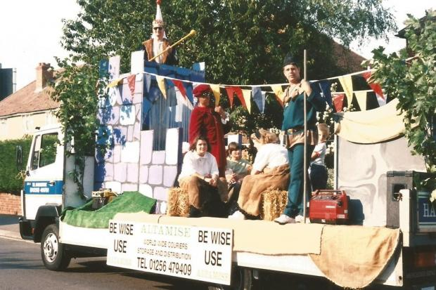 One of the many colourful Basingstoke Carnival floats entered into the Thursday procession. This one was from Altamise Couriers.