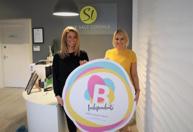Aga and Fran Butcher, co-owners of The Salt Lounge with the B Independent campaign