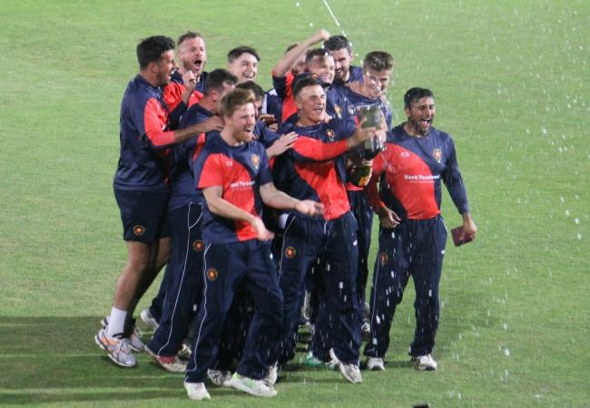 Hook celebrate at the Ageas Bowl