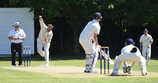 Shane Brewer bowling