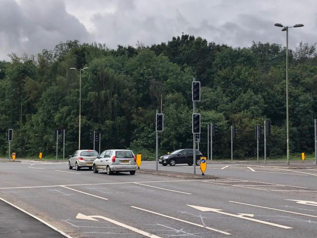 Traffic lights out at the A33 (Credit: Tim Birkbeck)