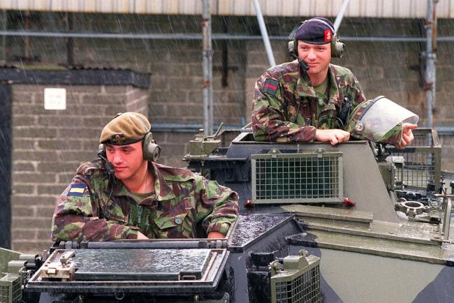 The Army on patrol in Belfast (PA)