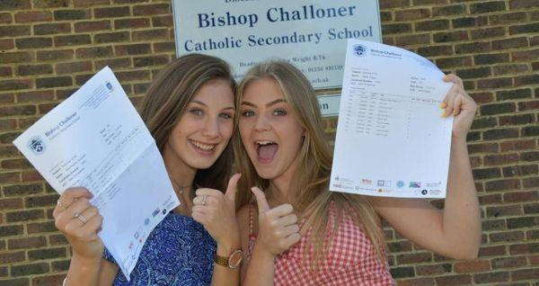 Mia Scannelli and Nieve Cleary celebrate their GCSE results (Pictures: Sean Dillow)
