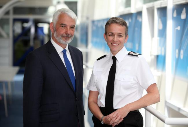 Police and Crime Commissioner Michael Lane and Chief Constable Olivia Pinkney