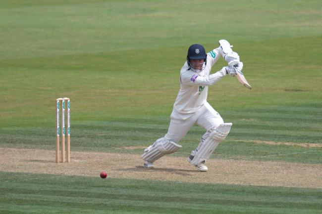Felix Organ during his maiden first-class hundred against Kent at the Ageas Bowl in July (Pic: Neil Marshall/YASPS)
