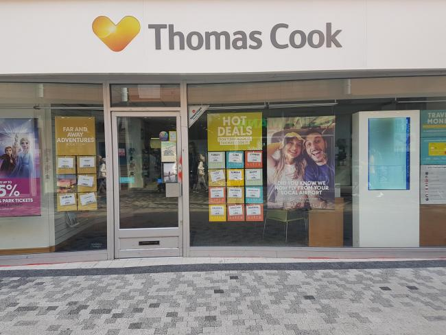 Thomas Cook's Basingstoke store lies empty