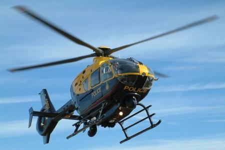A police helicopter was reported to have attended the scene