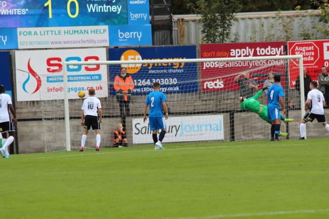 Hartley go two down at Salisbury Image: Josie Shipman