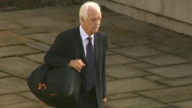 David Reid on his way to court on Friday morning (Credit: BBC)