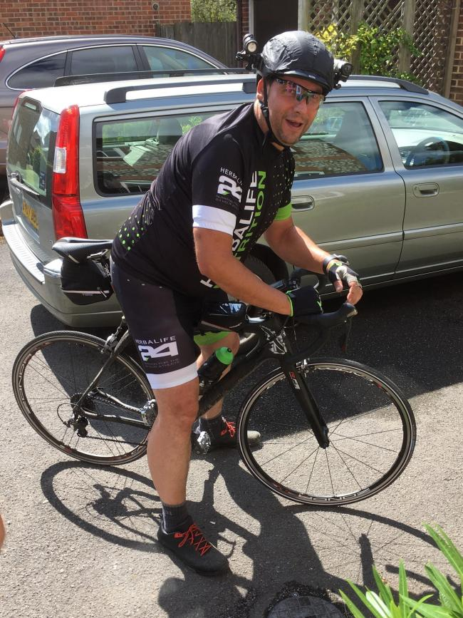 Mark Austin was part of the team that cycled from London to Cologne