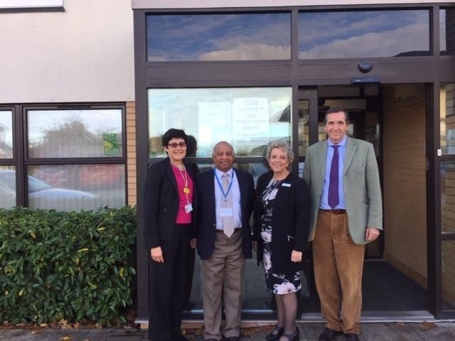 Councillor Dan Putty (centre left) with Felicity Green, Karen Blackhall and Dr Andrew Fernando