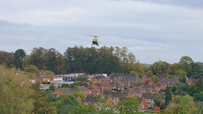 Air ambulance arrives to deal with incident in Eastrop - live updates