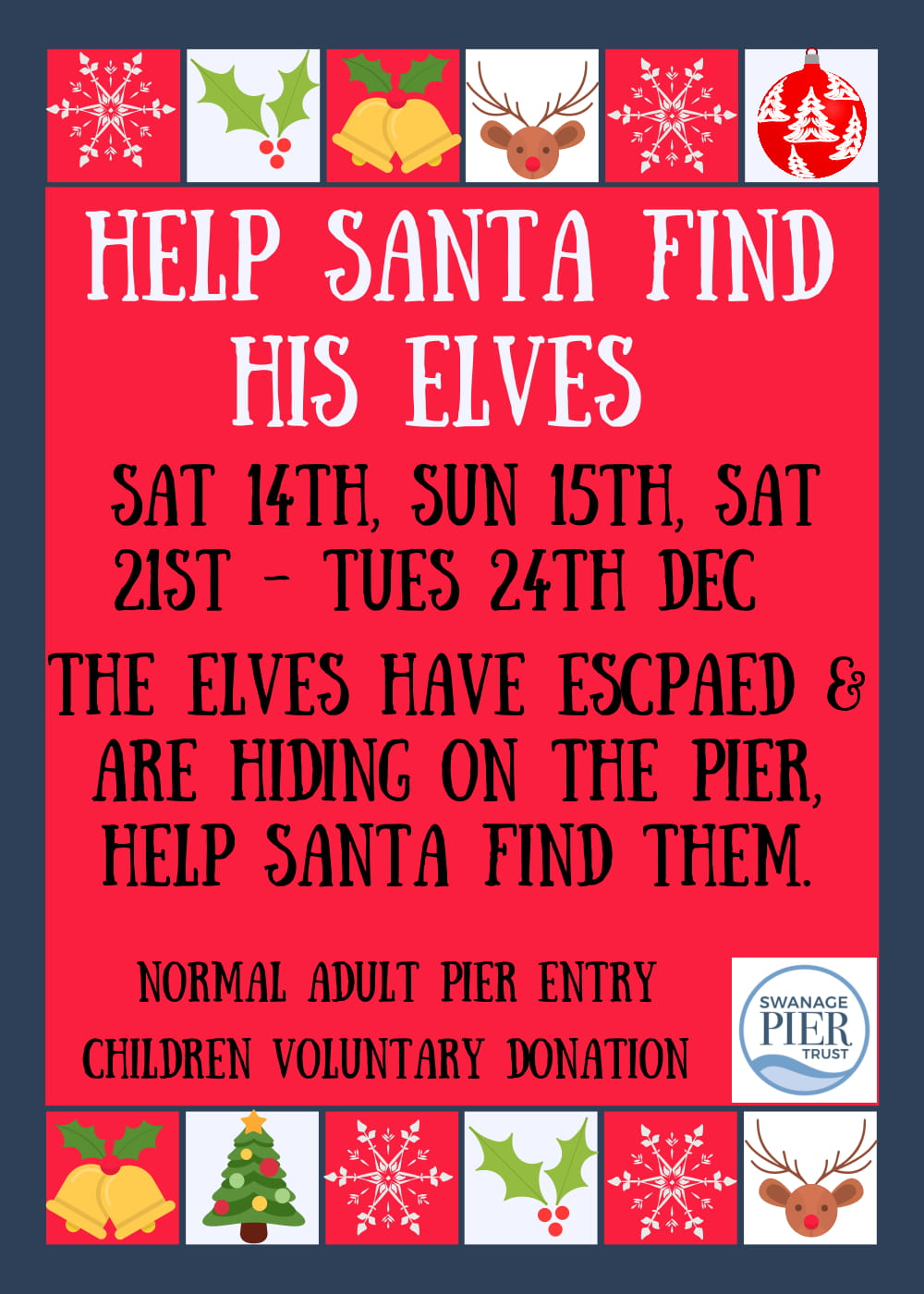 Help Santa Find His Elves on the Pier