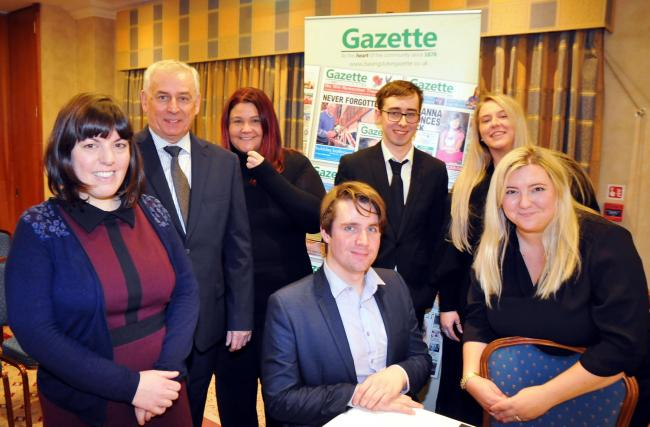 Gazette team at the first Basingstoke hustings of this election