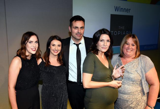 The Topiary wins Small Business of the Year Award (Photography by Sarah Gaunt taken 21/11/19)