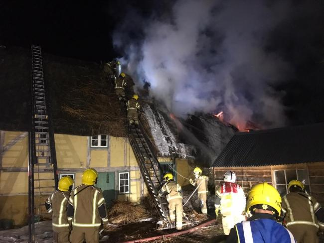 More than 60 firefighters attended the incident last night