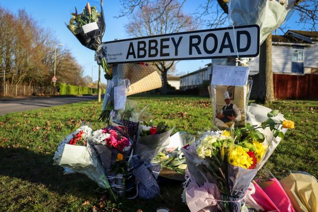 Tributes laid at the scene on Friday
