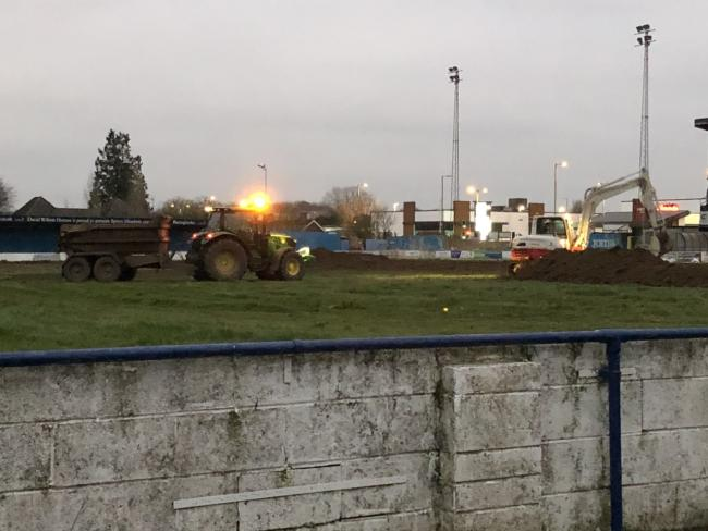 The club owner denies claims that the ground is being torn up, simply stating that they are 'removing the top soil'.
