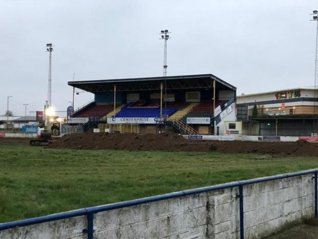 Basingstoke Gazette: The Camrose after work began last month to dismantle the pitch and stadium