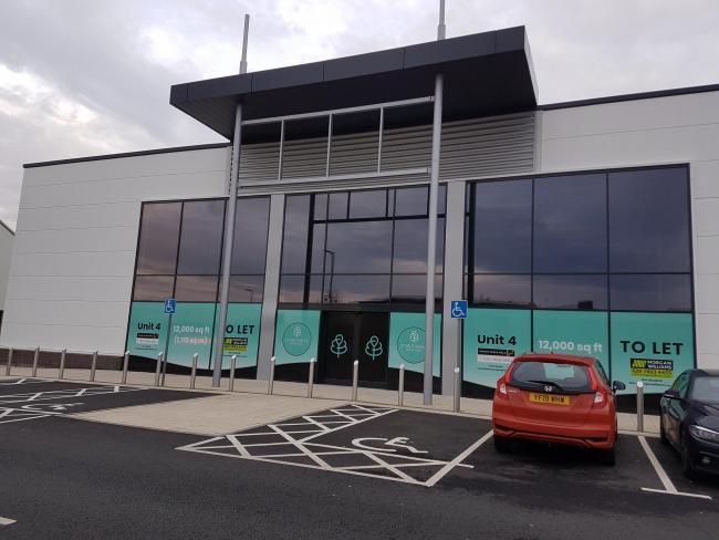 The Food Warehouse will occupy this empty unit at St Michael's Retail Park
