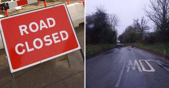 The B3400 has been closed due to emergency flooding works