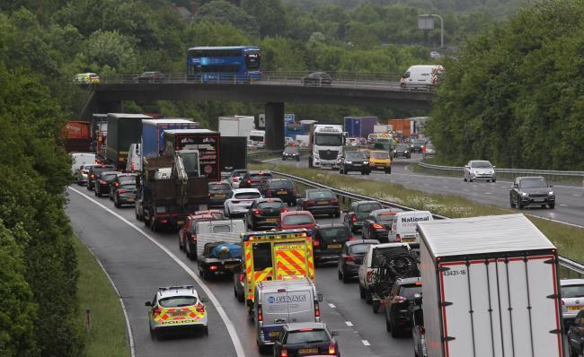 Motorway shut as hundreds of litres of diesel spill on to carriageway