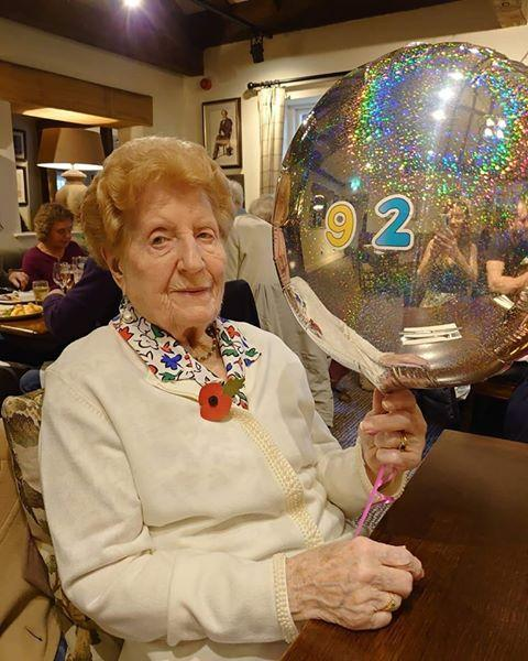 Basingstoke Gazette: Celebration: Helen Gent on her 92nd birthday