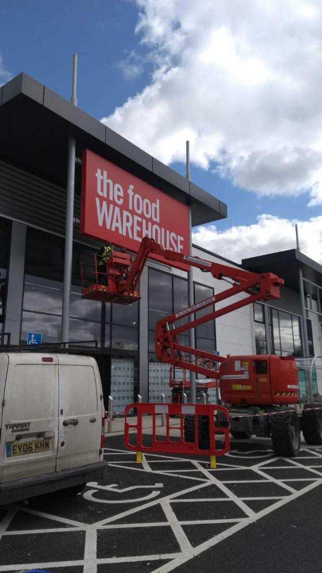 The Food Warehouse was due to open this month