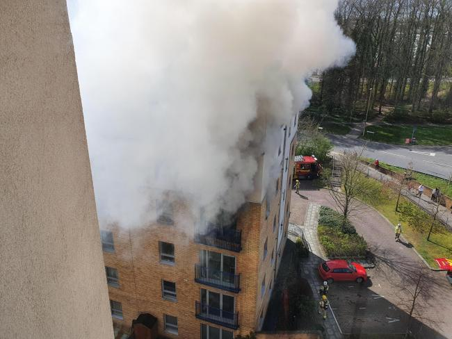 A flat was 75% destroyed in the blaze
