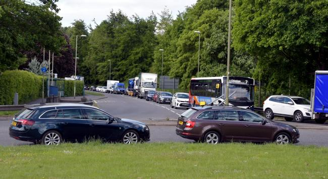 The recycling centre in Wade Road, Basingstoke re-opens as COVID19 restrictions are gradually relaxed..Queues of cars stretch up Faraday Road into Daneshill roundabout and Wade Road.....