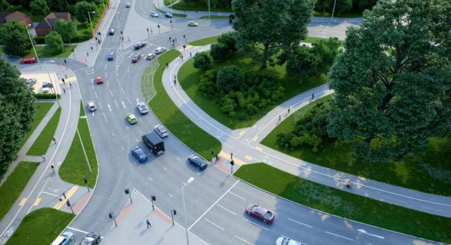 Brighton Hill roundabout proposals (Photo: HCC)
