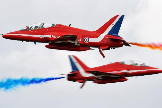 Red Arrows to fly over Hampshire today