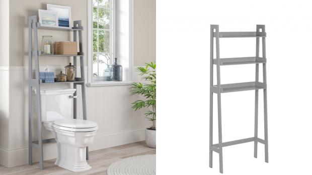 Basingstoke Gazette: Over-the-toilet units provide a lot more storage space. Credit: Wayfair