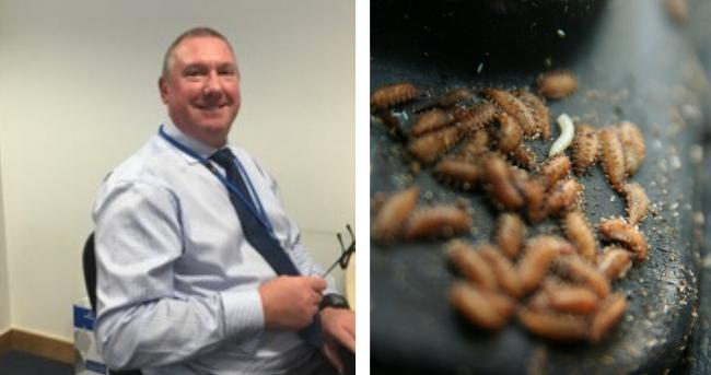 Simon was horrified to find maggots crawling in his bin