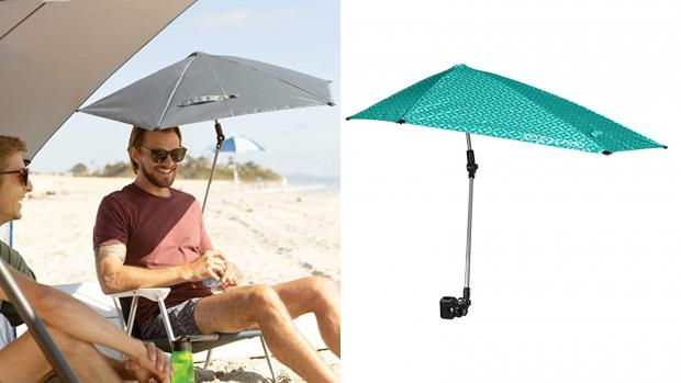 Basingstoke Gazette: Take a break from the sun with this clip-on umbrella Credit: Amazon