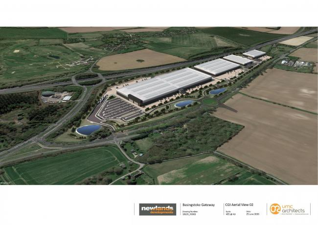 A new distribution hub is being planned at Junction 7 of the M3, called Basingstoke Gateway