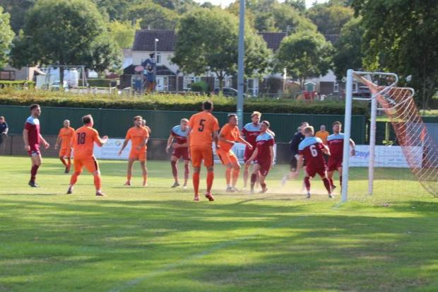 Hartley Wintney v Hamworthy United. Pictures by Josie Shipman