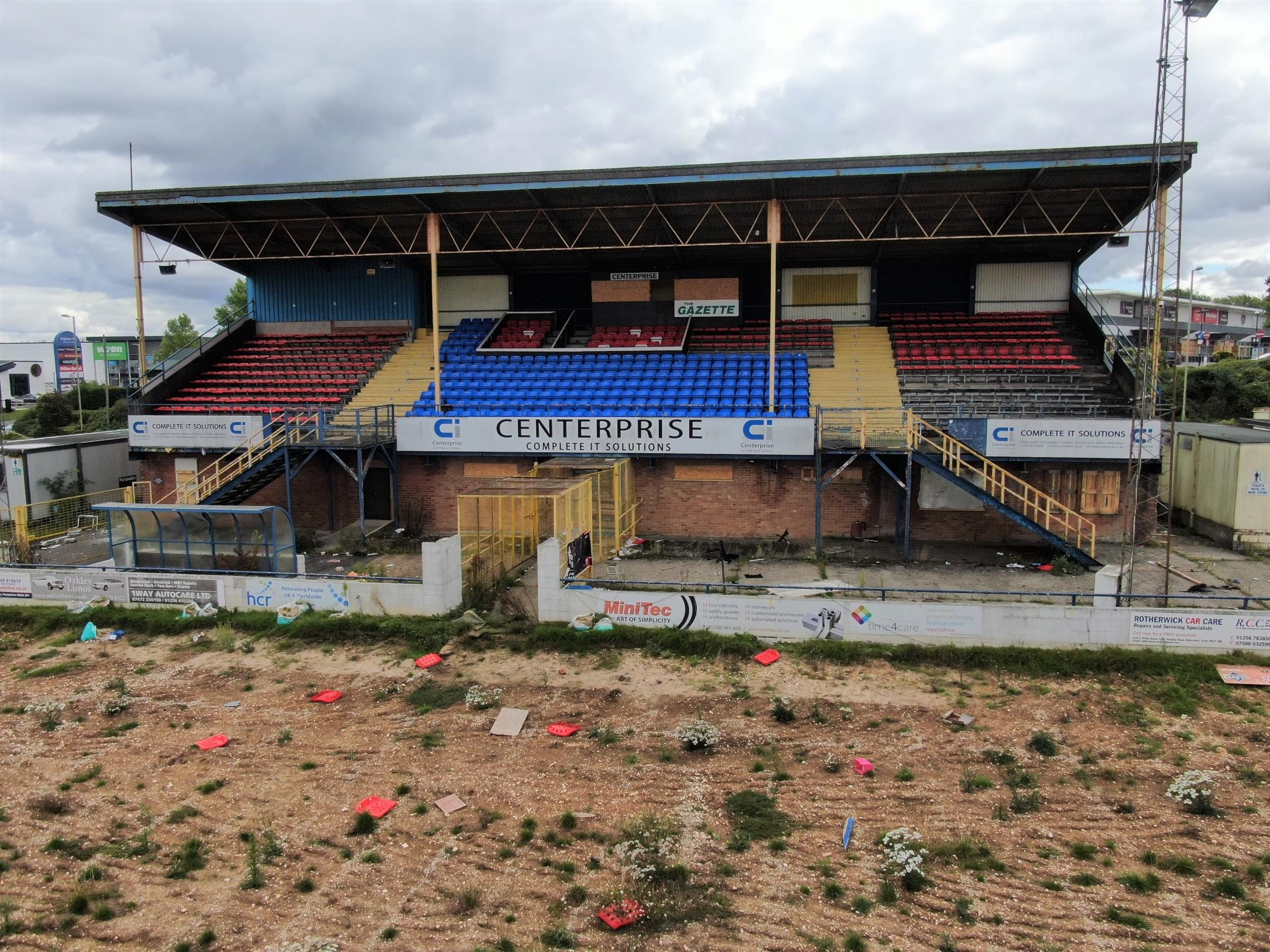 Photos show the Camrose left in a horrendous state. Picture by Simon Hill