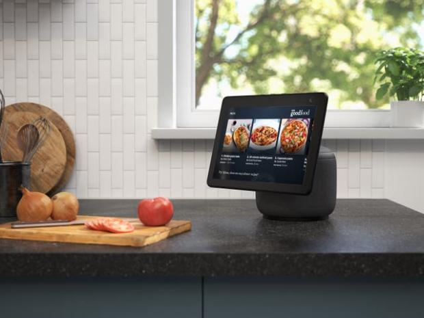 Basingstoke Gazette: The new Echo Show screen can swivel to follow the user. Picture: Amazon
