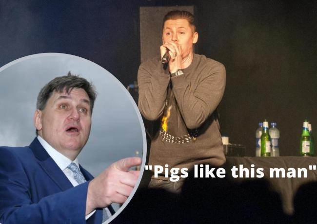 Professor Green brands Kit Malthouse a 'pig' that steals food from children