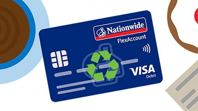 Nationwide to roll out 'eco-friendly' credit and debit cards made from recycled plastic. Picture: Nationwide/PA Wire