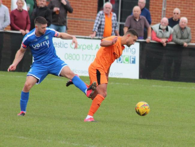 Hartley Wintney's man of the match Nathan Smart in action against Salisbury earlier in the season
