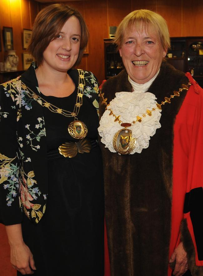 Former Mayor of Basingstoke and Deane, Cllr Anne Court, with daughter-in-law Colette