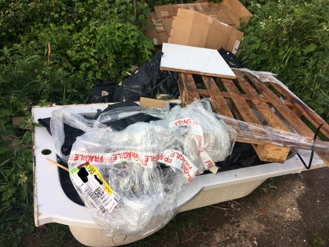 Florentin Petrica Baboi wasa ordered to carry out unpaid work after dumping these materials in Wooton St Lawrence.