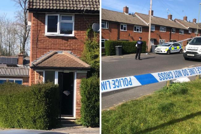 Police could be seen inside the property on St Peter's Road