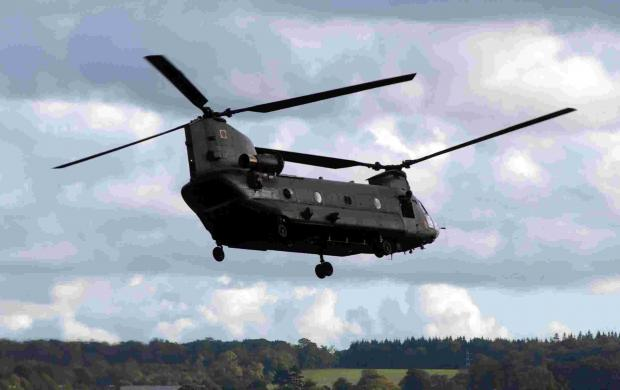 RAF Odiham personnel prepare for charity Chinook pull