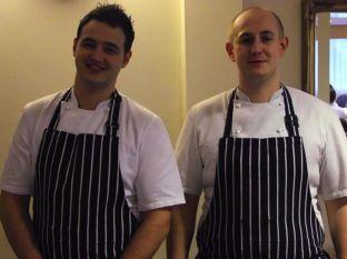 BCOT-trained chefs Tom Wilson (left) and Chris Barnes are set to reopen The Crown restaurant and pub in Old Basing